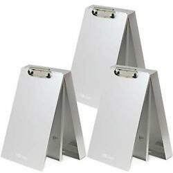 Of Aluminum Dual Storage Clipboard. Durable And Sleek. Dual Tray 3 Pack