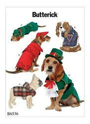 Butterick B6536 Pet Coats And Hats Sewing Pattern One Size