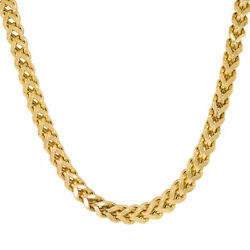 Mens 10k Yellow Gold Franco Square Box Chain Necklace 6mm Wide 28 Long