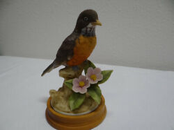 Vintage Andrea By Sadek Robin By Andrea 9386 Bird Figurine And Base