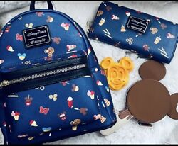 Disney Parks Snacks Loungefly Mini Backpack And Wallet Set