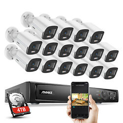 Annke 4mp Full Color Night Security Poe Ip Camera 8ch/16ch 4k Nvr Home System Us