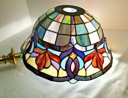 Pair Of 2 Style 13 Stained Glass Hanging Lamp Floor Lamp Shades Vintage