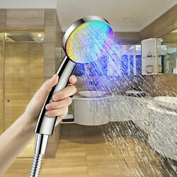 New Colorful Head Home Bathroom 7 Colors Changing Led Shower Water Glow Lights