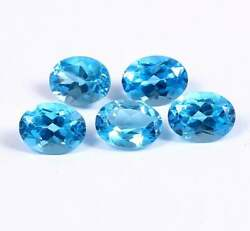 Aaa Quality Natural Swiss Blue Topaz 8x6 Mm Oval Faceted Cut Loose Gemstone Lot