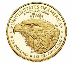 2021-w 1/2 American Eagle One-half Ounce Gold Proof Coin 21ecntype 2 Unopened