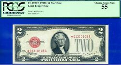 Rare Fr-1504 1928-c 2 Us Note Pcgs Choice-about-new 55 01310108a.
