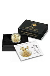 2021-w 1/2 American Eagle One-half Ounce Gold Proof Coinandnbsptype 2 Confirmed