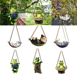 Garden Animals Statue Outdoor Hanging Funny Statues Decoration Ornament