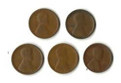 65 1916s -17s -18s -19s - 20s Wheat Cents See Photo  Free Sandh