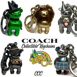 Coach Wizard Of Oz Keychain Fob Collection Set Tinman Dorothy Witch Lion Bears
