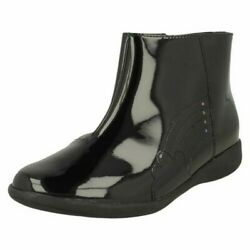Girls Clarks Rainbow Detailed Ankle Boots And039etch Glowand039
