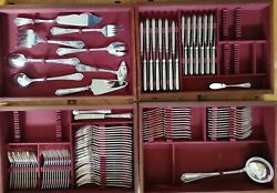 Pompadour Ercuis Silver Plated Set 12 Dinner Knives Forks Spoons New France