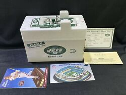 New In Box Danbury Mint 1966 Ford Mustang Convertible New York Jets Team Car