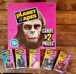 1975 Planet Of The Apes Orig. Phoenix Candy Store Display Box And 5 Diff Boxes