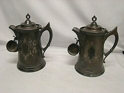 Antique Pair Of Tankards In Pewter First And039900 With Shot Richfield Usa