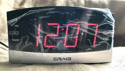 Craig digital dual alarm clock with radio tested and new out of the box