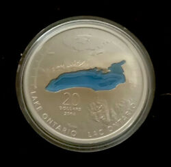 Canada 2014 Lake Ontario 20 1 Oz Pure Silver Enameled Proof Coin Great Lakes 2