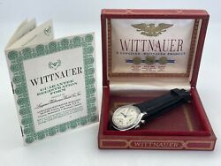 Wittnauer Chronograph Valjoux 72 Original Dial 35.5mm Stainless Box Papers Works