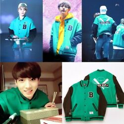 Authentic Super Rare Bts 3rd Muster Green Bomber Varsity Jacket One Size Fits