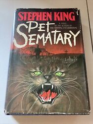 Stephen King Pet Sematary FIRST EDITION 1ST PRINT 1983 Hardcover W Dust Sleeve