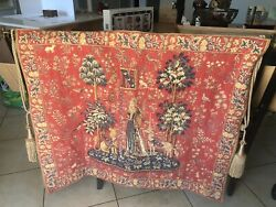 IPoint Des Meurins Vintage Lady amp; Unicorn French France Le Toucher VTG Tapestry