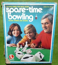 Lakeside Games Spare-time Bowling Vintage Table Top Dice Game 1977 Complete