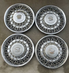 Set Of 4 Oem 15 Wire Wheel Covers Cadillac 1970and039s 1980and039s