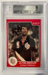 Clyde Drexler 1983-84 Star Rookie Rc Xrc Bgs 9 Mint Great Subs