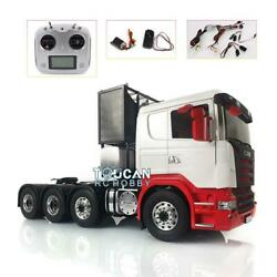 Metal 1/14 88 Chassis Lesu Scania Rc Tractor Truck Painted Hercules Cabin Radio