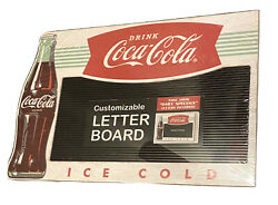 Coca Cola Letter Menu Board With Customizable Letters 22 In. X 15 In. X 1 In.