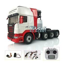 1/14 Lesu Scania Metal 88 Chassis Tractor Truck Sound Esc Hercules Painted Cab
