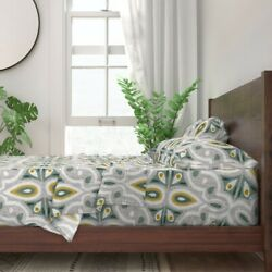 Geometric Moroccan Tile Spring 100 Cotton Sateen Sheet Set By Spoonflower