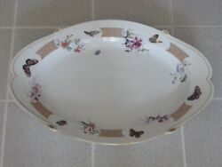 Haviland Limoges 21 X 14 Serving Platter Decorated W/ Flowers And Butterflies