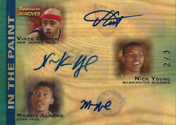 2007-08 Vince Carter Nick Young Morris Almond Auto In The Paint 2/3 Super Rare
