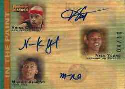 2007-08 Vince Carter Nick Young Morris Almond Auto In The Paint 4/10 Super Rare