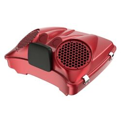 Wicked Red Dual 8and039and039 Speaker Lids Fits Advanblack/harley Razor Tour Pack Pak