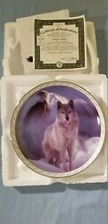 United In Spirit Plate 1st In The Masters Of The Land And Sky Eagle/wolf New
