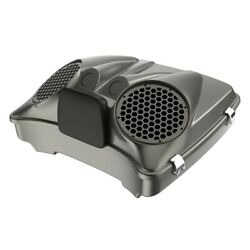 Industrial Gray Dual 8and039and039 Speaker Lids Fits Advanblack/harley Razor Tour Pack Pak