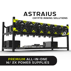 Mining Rig Kit Premium All-in-one W/ 2x Power Supplies 8 Gpu Cryptocurrency