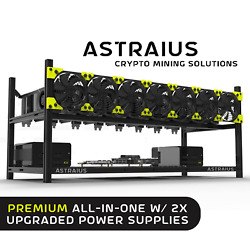 Mining Rig Kit Premium All-in-one W/ 2x Upgraded Power Supplies 8 Gpu Crypto