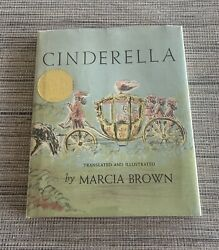 Cinderella Or The Little Glass Slipper By Marcia Brown 1954 Hc Signed - Vintage