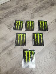 Monster Energy Logo Decal Stickers Set Of 6 - New