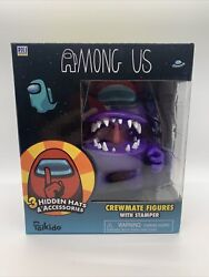 New 2021 Toikido Among Us Crewmates Large Figure - Purple Imposter - Stamper