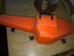 Vintage Stihl Orange Plastic Chainsaw Carrying Case With Handle Unused