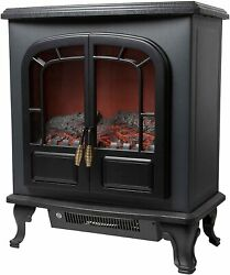 Warmlite Wl46019 Wingham 2-door Portable Electric Stove Heater With Realistic Le