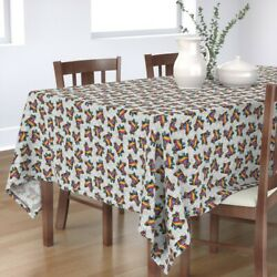 Tablecloth Bright Fun Festival Mexico Mexican Donkey Bold Colors Cotton Sateen