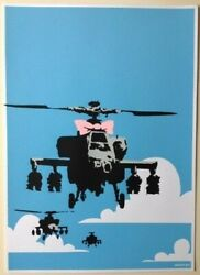 Limit Banksy Happy Choppers Wcp Reproduction Silkscreen Print United Kingdom
