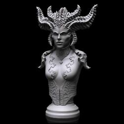 Lilith Queen Of The Succubi Bust - Daughter Of Mephisto - Diablo Video Game