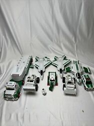 Hess Trucks Lot Of 5 Sets - 9 Pieces Total + Vintage Not Tested